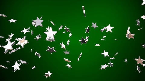 Broadcast Flying Hi-Tech Stars, Green, Events, Loopable, 4K Animation