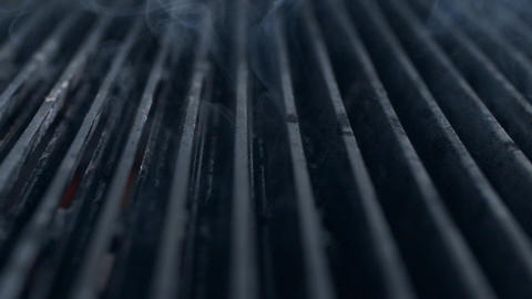 Hot grill is smoking in slow motion, 240 frames per second, smoke in slow motion Live Action