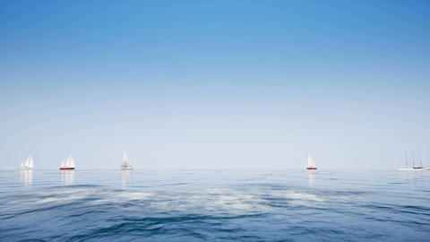 Boats on clear blue ocean Archivo