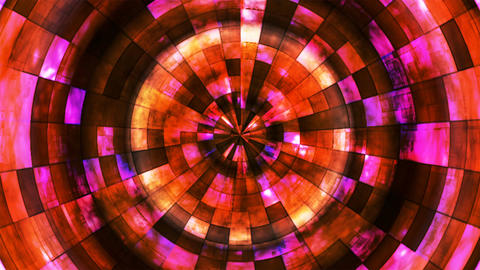 Twinkling Hi-Tech Grunge Flame Tunnel, Red Orange, Corporate, Loopable, 4K Animation