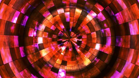 [alt video] Twinkling Hi-Tech Grunge Flame Tunnel, Red Orange,...