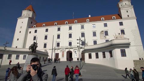 BRATISLAVA, SLOVAKIA - November 2013: The historical center of Bratislava Footage