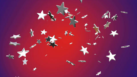 Broadcast Flying Hi-Tech Stars, Red Purple, Events, Loopable, 4K Animation