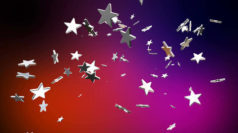 Broadcast Flying Hi-Tech Stars, Multi Color, Events, Loopable, 4K Animation