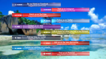 Social media lower thirds Plantilla de After Effects