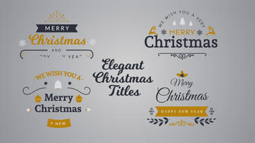 Elegant Christmas Titles After Effects Templates