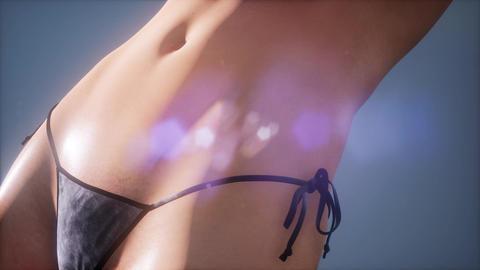 young sexy bikiny woman Footage