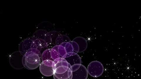flowting sphere and particle type 9 Stock Video Footage