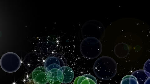 flowting sphere and particle type 1 Animation