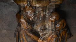 Medieval Wood Carvings , Toledo Cathedral, Spain Footage