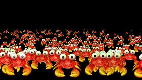 4k Cartoon crabs crawl,ocean aquatic crustaceans animals,creatures comics toys Live Action