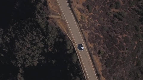Top View Windy Drive Footage