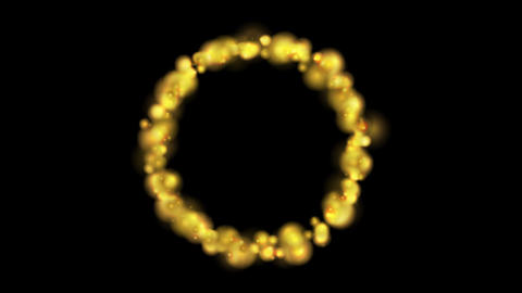 Glowing golden fire circle video animation Animation