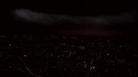 微速度、夜景、町並み、雲、Time-lapse、clound.nightview.town Footage