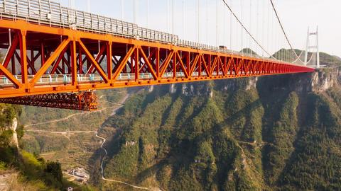 Aizhai bridge ,Hunan,China Footage