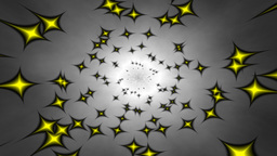 Swirling stars in hypnotic circle animation Animation