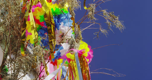 Colorful Tokyo Tanabata Festival Stock Video Footage