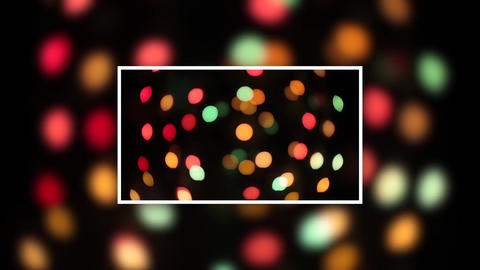 christmas bokeh light abstract holiday background. Defocused ligths of Christmas Animation