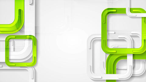 Abstract bright green squares tech video animation CG動画素材
