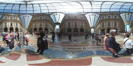 360 VR – Inside Galleria Vittorio Emanuele Arcade in Milan VR 360° Video