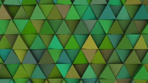 Pattern of green triangle prisms Fotografía