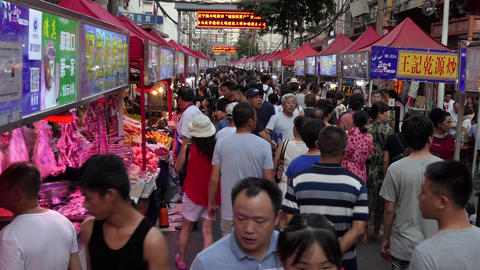 People Buying Chinese Street Food In Lanzhou China Asia Footage