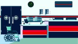 Hospital Reception Illustration Vector