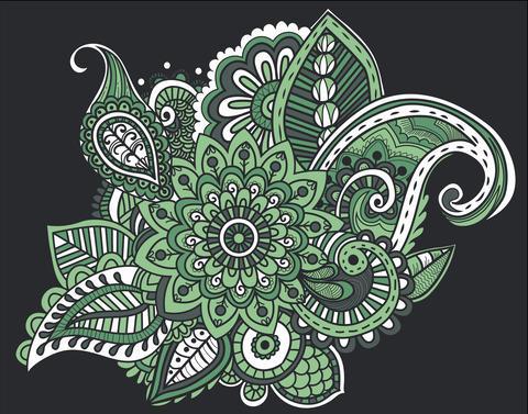 Flower Pattern Bright Abstract wallpaper vintage Fotografía
