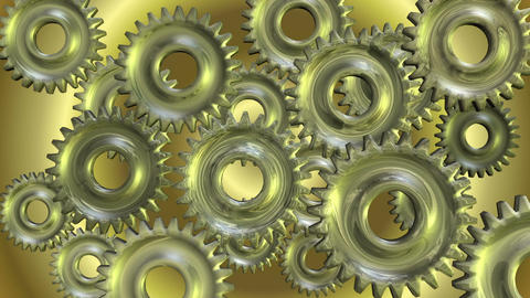 3D Animation of rotating Gears Animation