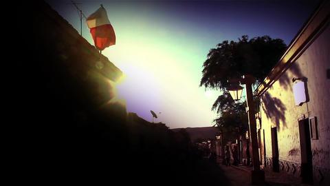 Sunset on Caracoles Street, San Pedro de Atacama, Chile Footage