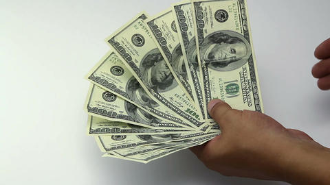 Money 100 dollars banknote Footage