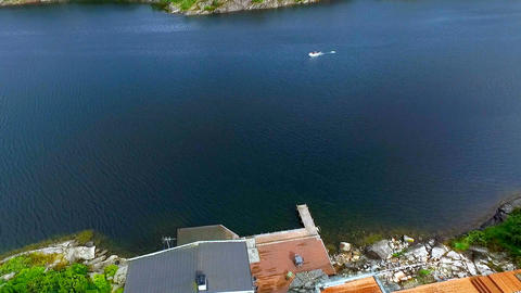 Aerial view of Norway village. aerial vie Footage