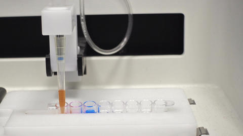 DNA-analyzer In Modern Biological Laboratory Footage