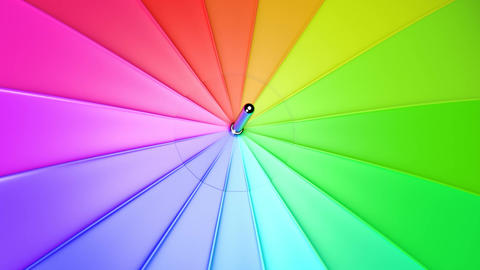 Colorful umbrella seamless looping 3D animation Animation