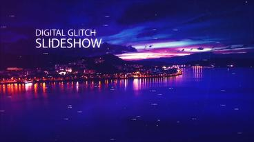 Digital Glitch Slideshow After Effects Template
