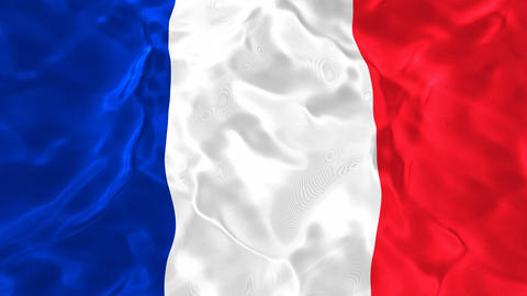National flag of France 3D looping animation Animación