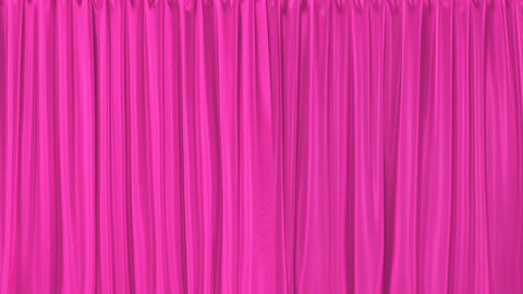 Pink textured curtains realistic 3D animation with alpha matte Animation