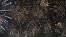 UHD of the colorful fireworks exploding in the night sky Footage
