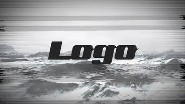 Short Glitch Logo After Effects Template