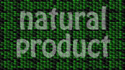 Decorative multicolor video with text natural product Animación