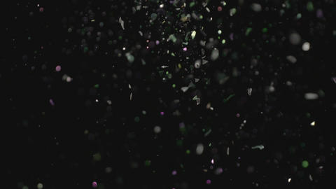 Realistic Glitter Exploding on Black Background Image