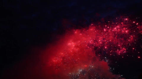New Year's fireworks in the night sky Footage
