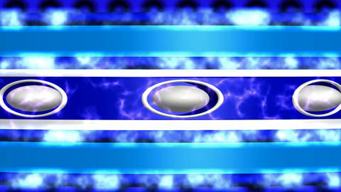 Abstract background blue white with ellipses and cyan fire Animation