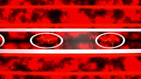 Abstract background red with ellipses and fire Animation