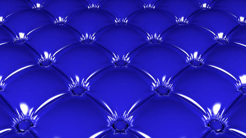 Quilted blue latex pattern looping 3D animation Animation