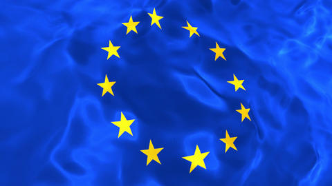 Flag of the European Union 3D looping animation Animation