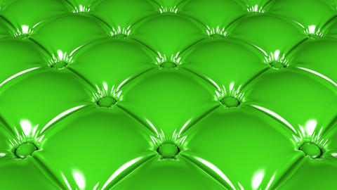 Quilted green latex pattern 3D animation Animation