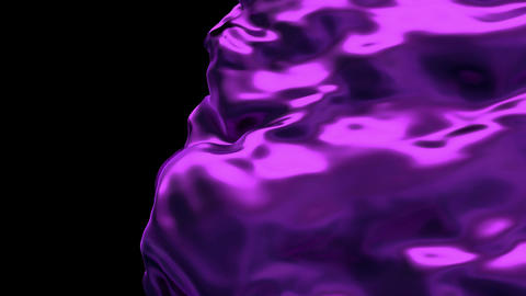 3D realistic animation of the purple waving cloth reveals the background Animation