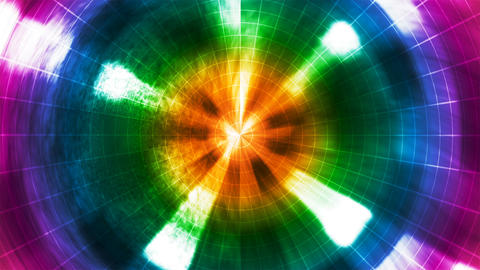 [alt video] Twinkling Hi-Tech Grunge Light Tunnel, Multi Color,...