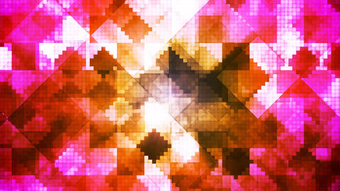 Broadcast Hi-Tech Diamond Shifting Patterns, Multi Color, Abstract, Loopable, 4K Animation